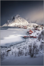 Plakat Fishing village in the Lofoten