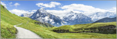 Obraz na drewnie  Swiss Alps panorama, Grindelwald - Jan Christopher Becke