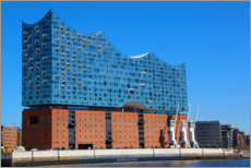 Plakat Elbphilharmonie in the sunshine