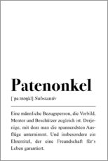 Obraz na płótnie  Patenonkel Definition (German) - Pulse of Art