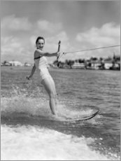 Plakat Water skiing in the 50s