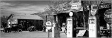 Gallery print  Gas station on Route 66, Hackenberry, USA