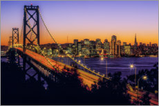 Gallery print  Oakland Bay Bridge at sunset, California