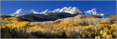 Plakat Rocky Mountains in the fall
