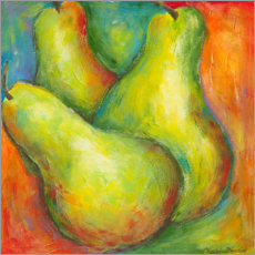 Plakat Abstract Fruits - Pears I