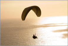 Plakat Paraglider over the sea