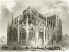 Obraz na PCV  Notre Dame Cathedral, East End - Hablot Knight Browne