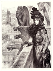 Plakat  Beauty and the beasts on the roof of Notre Dame - Charles Paul Renouard