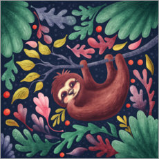 Plakat Sloth in the forest