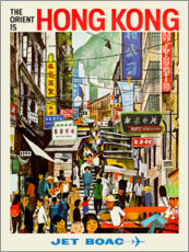 Plakat  Hong Kong - Jet BOAC - Travel Collection