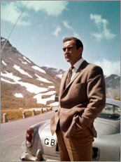 Plakat  Sean Connery in Goldfinger
