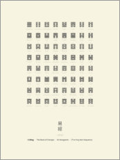 Plakat  I Ching Chart With 64 Hexagrams (King Wen sequence) - Thoth Adan