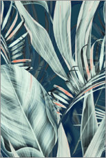 Obraz na szkle akrylowym  Palm leaves collage - Art Couture
