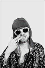 Obraz na szkle akrylowym  Kurt Cobain - Celebrity Collection