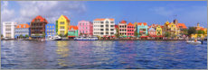 Obraz na płótnie  Colorful harbor buildings of Willemstad, Curacao
