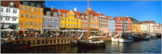 Plakat  Sailboats in the Nyhavn canal