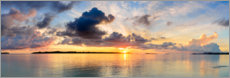 Plakat Golden morning over the tropical sea