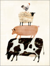 Gallery print  Animals on the farm - Victoria Borges