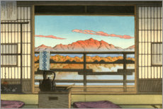 Naklejka na ścianę  Morning at Hot Spring Resort in Arayu - Kawase Hasui