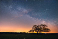 Plakat Starry sky and Milky Way in the Harz