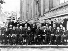 Obraz na drewnie  Fifth Solvay Conference, 1927
