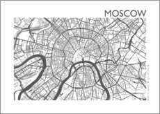 Obraz na płótnie  City map of Moscow - 44spaces