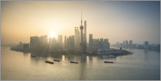 Obraz na płótnie  Shanghai skyline at sunrise - Jan Christopher Becke