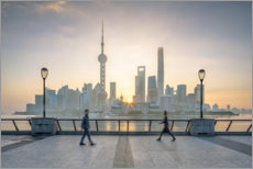 Plakat Waterfront of Shanghai in front of the Pudong skyline