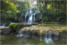 Plakat Picturesque waterfall in the forest