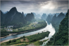 Obraz na płótnie  Xingping on the Li River, China - Jan Christopher Becke