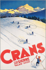 Obraz na drewnie  Crans-Montana (French) - Travel Collection