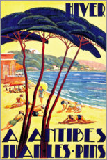 Plakat Winter in Antibes (French)