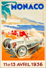 Plakat  Grand Prix of Monaco 1936 (French) - Travel Collection