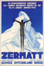 Obraz na drewnie  Zermatt - Travel Collection