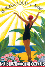 Plakat On the French Riviera (French)