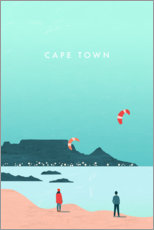 Obraz na drewnie  Cape Town illustration - Katinka Reinke