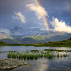 Obraz na płótnie  Rainbow in the Alps - Tobias Richter