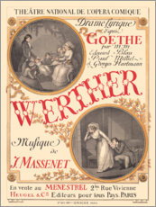 Plakat The sufferings of young Werther (French)