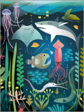 Obraz na drewnie  Under the sea - Amanda Shufflebotham