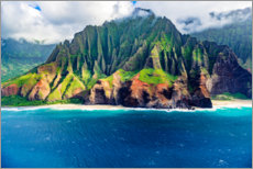 Obraz na płótnie  Kalalau Beach on the Na Pali Coast - Russ Bishop