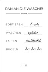 Gallery print  Wash plan (german) - Typobox