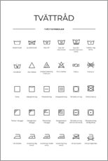 Gallery print  Washing and care symbols (Swedish) - Typobox