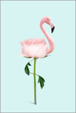 Plakat Flamingo Rose