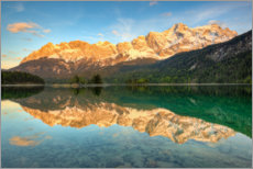 Plakat Alpenglow at the Eibsee