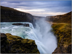 Obraz na płótnie  Gullfoss waterfall at sunrise, Iceland - Peter Wey