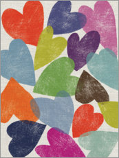 Plakat Colorful hearts