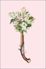 Plakat Revolver with flowers