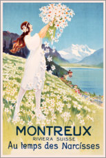 Obraz na drewnie  Montreux (French) - Travel Collection