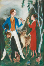 Obraz na aluminium  The young man and the girl - Nils von Dardel