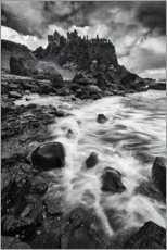 Gallery print  Gloomy clouds over the castle ruins - The Wandering Soul